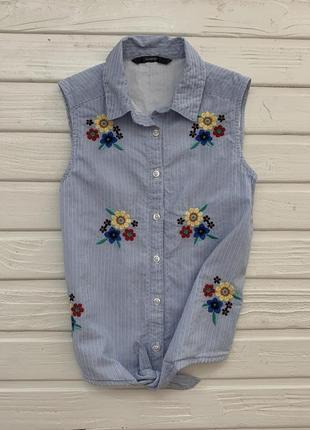 Блузка рубашка безрукавка