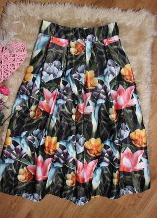 Шикарная юбочка миди  размер s