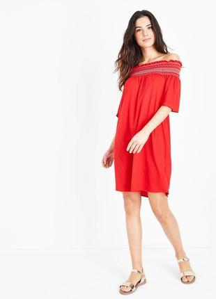New look. это не сток.товар из англии.новое платье со спущенными открытыми плечами.