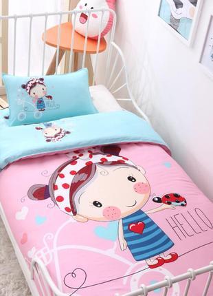 Детское постельное белье в кроватку 3d девочка (от 0 до 5 лет)