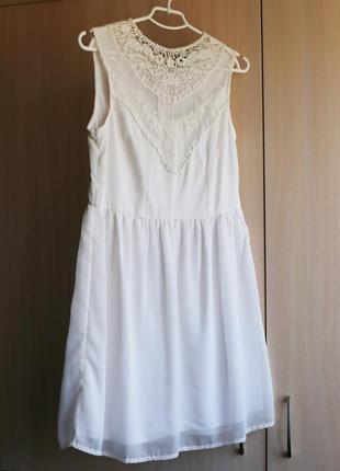 Белое платье incity гипюр кружево
