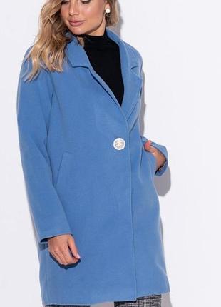 Однобортное кашемировое пальто