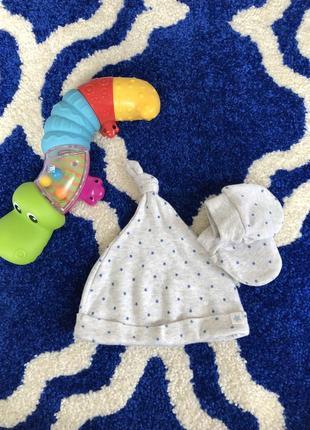 Набор шапочка царапки mothercare