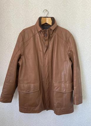 Pedro del hierro утепленная кожаная куртка с карманами