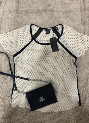 Летняя шифоновая футболка топ блуза maison scotch оригинал размер м