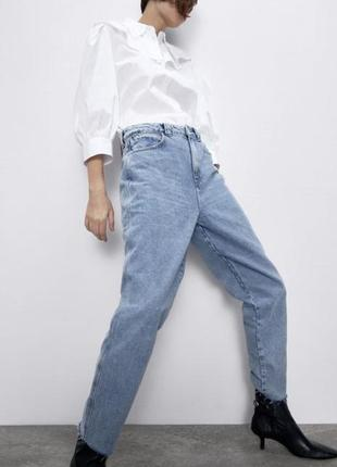 Джинсы мом прямого кроя, брюки с высокой посадкой, штаны бойфренды