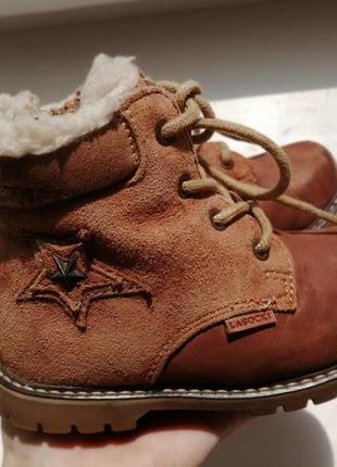 Тёплые зимние кожаные ботинки на овчине не zara