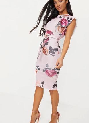 Шикарное платье в цветы plt