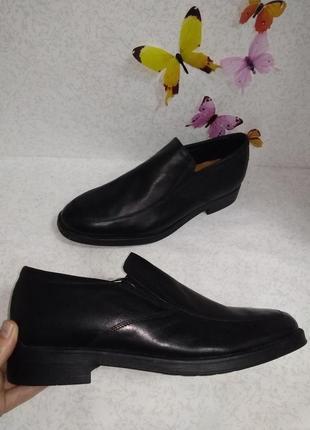 Кожаные туфли лоферы полуботинки geox (джеокс) 45р.
