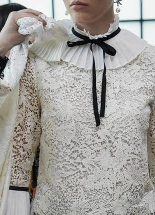 Кружевная блуза h&m x erdem!