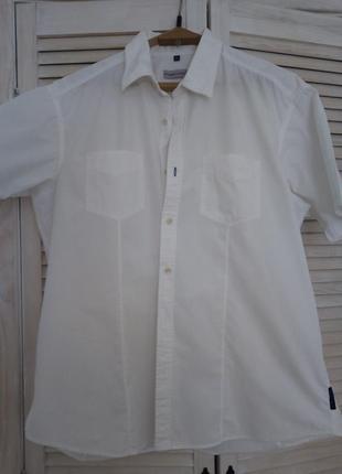 Рубашка белая большой размер на 180-185см/90-100кг