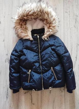 Шикарная теплая модная куртка  дутик оверсайз  f&f  5-6 лет 110-116 см