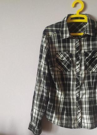 Рубашка в клеточку, размер l.