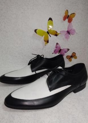 Кожаные туфли броги zign (зигн)  45р.