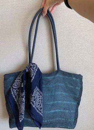 Крутая плетёная сумка shopper