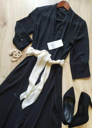 Элегантное вечернее платье zara с поясом