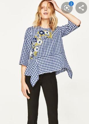 Рубашка с вышивкой zara