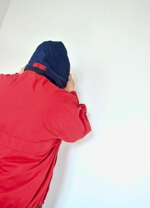 Ralph lauren chaps красный анорак, демисезонная винтажная куртка через голову7 фото
