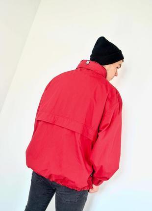 Ralph lauren chaps красный анорак, демисезонная винтажная куртка через голову8 фото