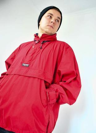 Ralph lauren chaps красный анорак, демисезонная винтажная куртка через голову2 фото