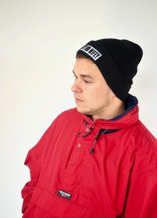 Ralph lauren chaps красный анорак, демисезонная винтажная куртка через голову3 фото