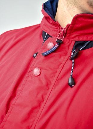 Ralph lauren chaps красный анорак, демисезонная винтажная куртка через голову4 фото