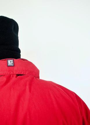 Ralph lauren chaps красный анорак, демисезонная винтажная куртка через голову6 фото