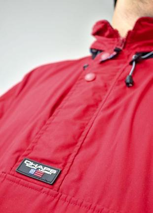 Ralph lauren chaps красный анорак, демисезонная винтажная куртка через голову5 фото