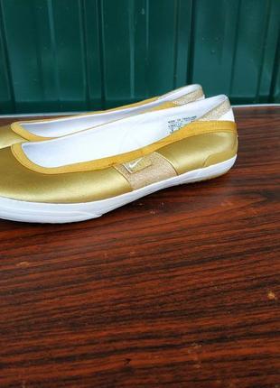 Кожаные балетки nike fin'star,размер 36.5.