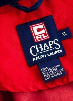Ralph lauren chaps красный анорак, демисезонная винтажная куртка через голову9 фото