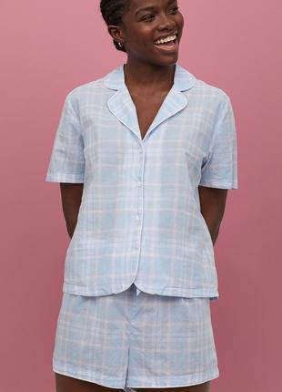 Пижама h&m в клетку хлопок, очень уютная, отличное качество.