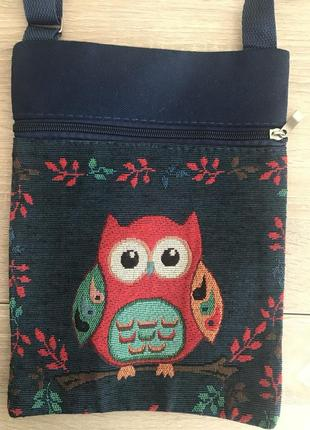 Симпатичная сумочка, сумка с совой в стиле бохо!