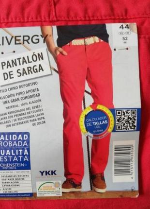 Мужские летные штаны чиносы брюки красные livergy
