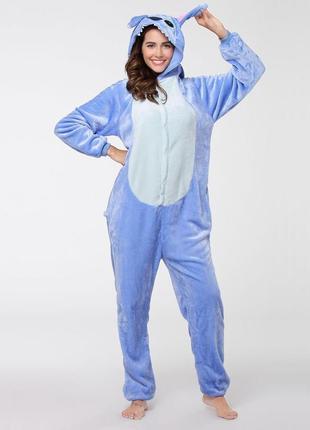 🎁подари тепло❤тёплые мягкие пижамы кигуруми стич stich4 фото