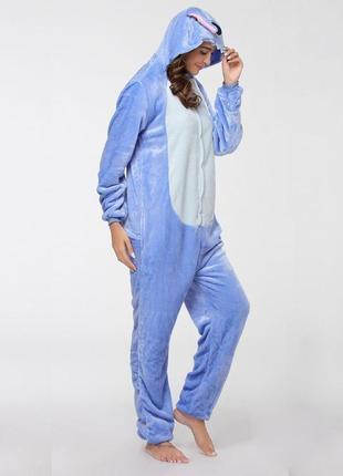 🎁подари тепло❤тёплые мягкие пижамы кигуруми стич stich6 фото