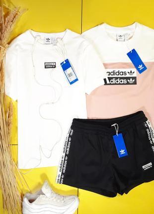 Белая базовая футболка adidas r.y.v. , оригинал puma nike
