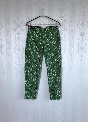Зеленые штаны в горох lindex,брюки mom,хлопковые натуральные,джогеры,бермуды!