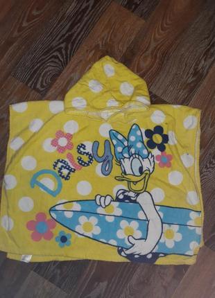 Яркое пляжное полотенце в горошек накидка защита от солнца disney daisy