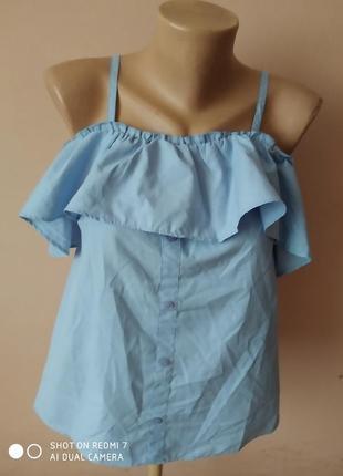 Блуза блузка з опущеним рукавом