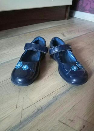 Кожаные туфли с мигалками