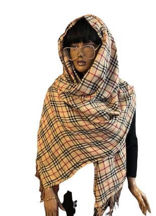 Большой палантин платок в стиле барбери