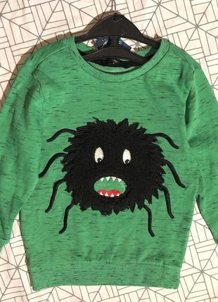 Свитшот свитер тёплая кофта мальчику 98-104 см 3-4 года george