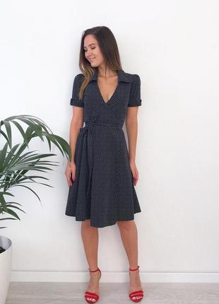 Коттоновое платье на запах lorsay
