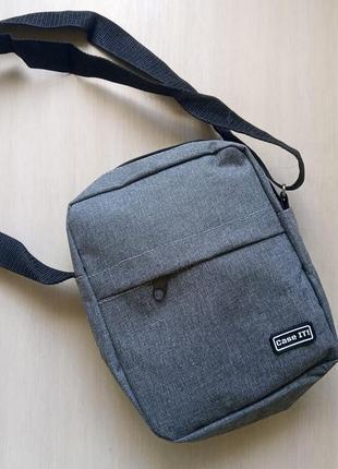 Небольшая мужская сумка барсетка текстиль