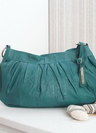 Модная сумка-пельмень, pilgrim, натуральная кожа