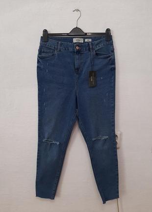 Стильные модные трендовые джинсы на высокой посадке большого размера 18