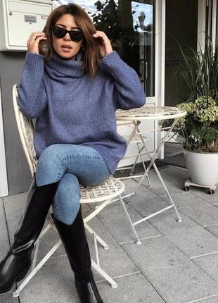 Новый сиреневый свитер zara