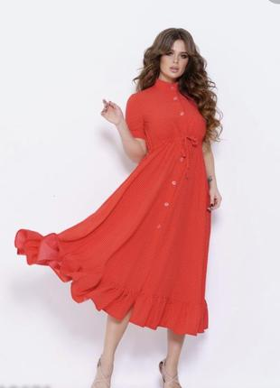 Шикарное платье рубашка размер 50-52-54