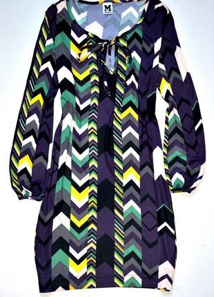 Missoni. супер платье в разноцвеный геометрический рисунок.