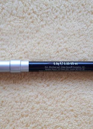 Черный каяловый мягкий карандаш для век глаз каял urban decay2 фото